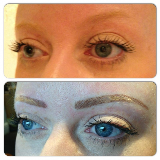 Eyebrow Tattoo Before And After: Rachael Divers Makeup Artistry