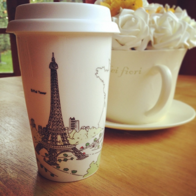 Morning coffee while dreaming of Paris...