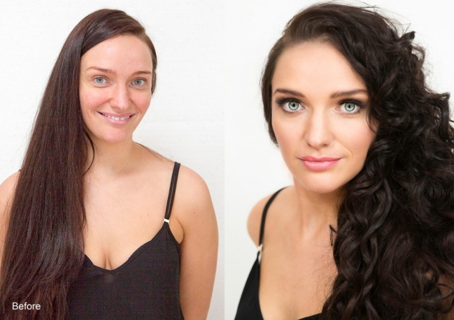 Rachael Divers Makeup Before and After Makeover