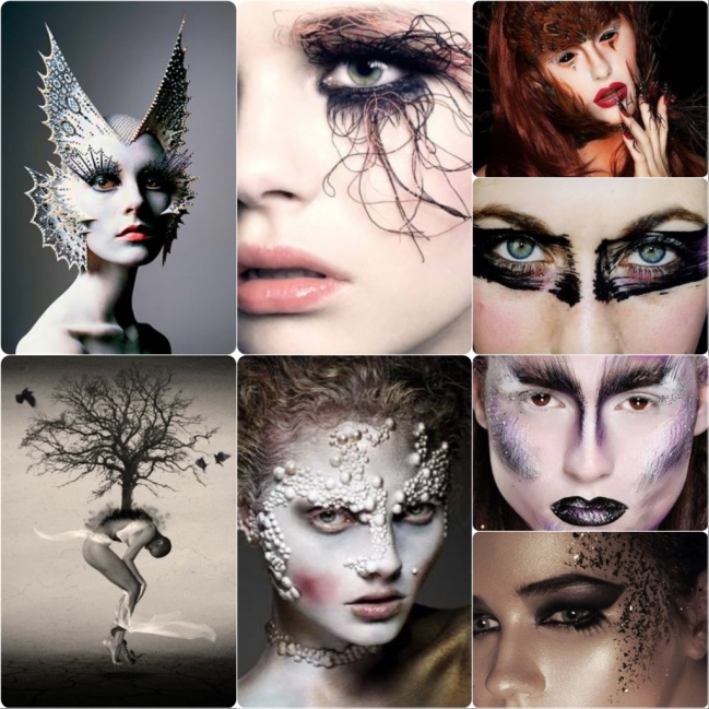 Next up, I took a look at some inspiring makeup images that I found over on Pinterest. Please note: I do not own these images, they are from various artists.