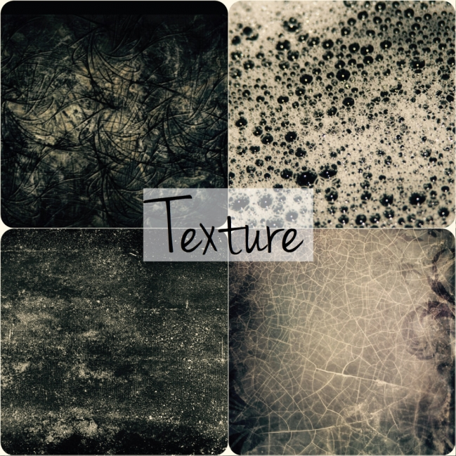 Texture played a big part in my project brief - from crackles to grain.