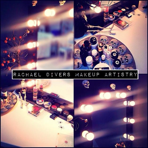 Halloween makeup at the studio