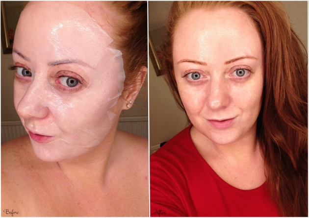 Before and After Starskin mask