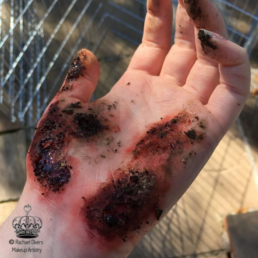gravel burn sfx halloween makeup in barnsley rachael divers makeup artistry