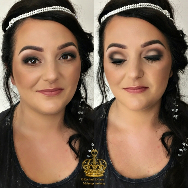 The stunning Bride | Sweet treats for my gorgeous bride and her bridal party | Kim Kardashian inspired Bridal makeup for Vicki | Wedding Makeup in Barnsley | Rachael Divers