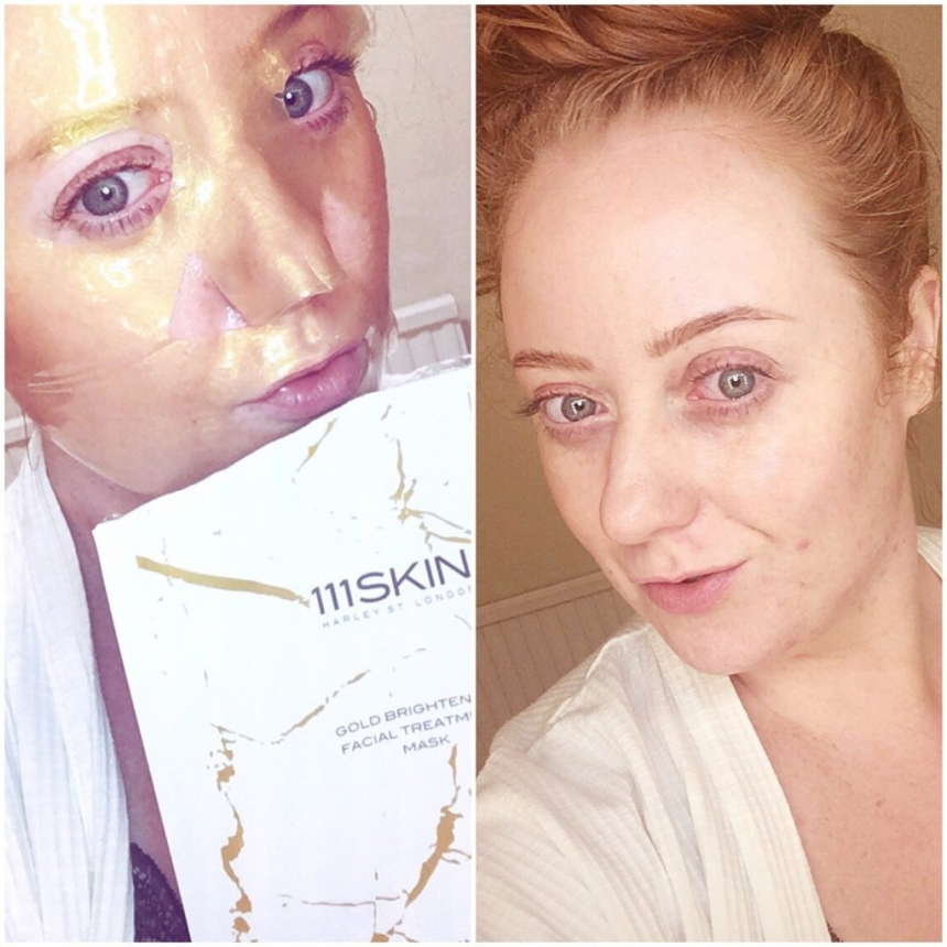 111SKIN Gold Brightening Facial Treatment Mask review