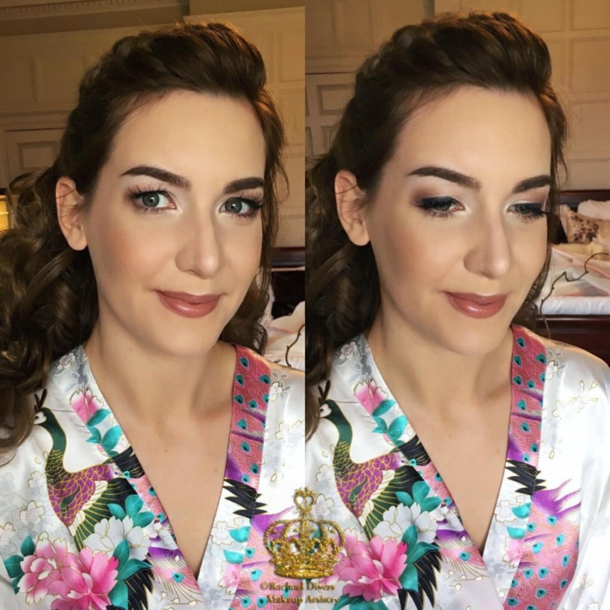Beautiful Bridal makeover at Worley HallHotel | Rachael Divers \ Wedding Makeup Artist in Barnsley
