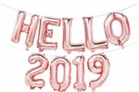 Hello 2019 balloon banner